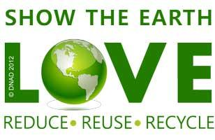 Show the Earth LOVE