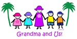 Grandma, 2boys, 2girls -colorful