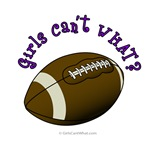 Football - Purple Text