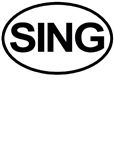 SING oval for Singers Tee shirts & Gifts