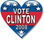 Vote Hillary Clinton 2008 Political T-shirts Gifts