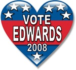 Vote John Edwards 2008 Political T-shirts & Gifts