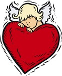 Valentine Angel with Heart T-shirts & Gifts