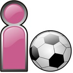 I Play Soccer - Pink