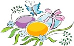 Easter Eggs with Butterfly T-shirts & Gifts