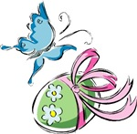 Easter Egg and Butterfly T-shirts & Gifts