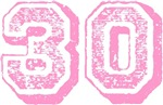 Pink 30 Thirty Years Old Birthday T-shirts Gifts
