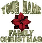 Custom Family Christmas Personalized T-shirts Gift