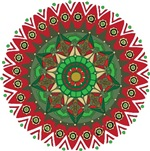 Christmas Mandala Red Green T-shirts Gifts
