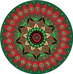 Christmas Mandala Zen Spiritual T-shirts Gifts