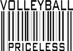 Volleyball Priceless Bar Code Sport T-shirts Gifts