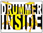 Drummer Inside t-shirts gifts