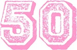 Pink 50 Years Old Birthday T-shirts Gifts