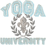 Yoga University Fleur de Lis T-shirts Gifts