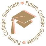 Cute Pink Future College Graduate T-shirts Gifts