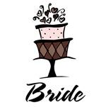 Bride Pink Brown Cake T-shirts Gifts