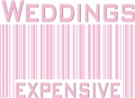 Weddings Expensive Pink Bar Code T-shirts Gifts