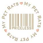 Sweet My Pet Rats Priceless T-shirts Gifts