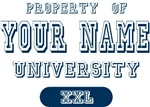 Property Of Last Name University T-shirts Gifts