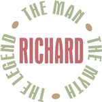 Richard the Man the Myth the Legend T-shirts Gifts