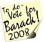 Vote Barack Obama Reminder T-shirts Gifts