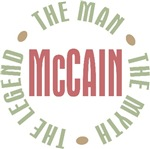 McCain the Man the Myth the Legend T-shirts Gifts