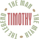 Timothy the Man the Myth the Legend T-shirts Gifts