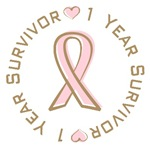 1 Year Breast Cancer Survivor T-shirts Gifts