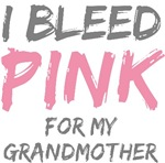 Bleed Pink Grandmother Breast Cancer T-shirts Gift