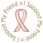 Breast Cancer Support Friend T-shirts Gifts