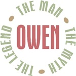 Owen the man the myth the legend T-shirts Gifts
