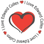 I love Edward Cullen Twilight T-shirts Gifts