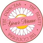 Girl's Custom Your Name Princess Goddess Tees Gift