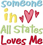 Childlike Someone In Your State Loves Me Tees Gift