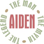 Aiden Man Myth Legend Tees Gifts