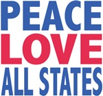 Peace Love Your City or State Tees Gifts