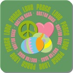 Peace Love Easter Eggs Tees Gifts