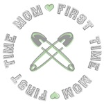 First Time Mom Green Tees and Gifts