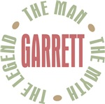 Garrett the Man Myth Legend Tees Gifts