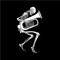 Skeleton Tuba Player