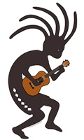 Ukulele Playing Kokopelli