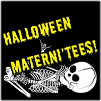 Skeleton Baby Halloween Maternity Shirts