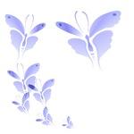 Soft Blue Butterflies