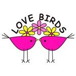 Love birds--pink
