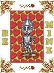 The Tinman of Oz asks for you to Be Mine this Valentine's Day with the heart filled Wizard Of Oz Valentine's Day card.
