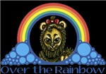With all the colors of the rainbow, this Wonderful Wizard of Oz inspired design captures the Cowardly Lion Over the Rainbow.  The perfect gift for any Oz fan.