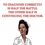 a funny nursing joke on gifts and t-shirts.