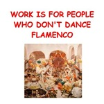 a funny flamenco joke on gifts and t-shirts.