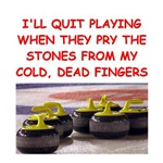 a funny curling joke on gifts and t-shirts