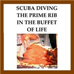 funny scuba diving joke on gifts and t-shirts.